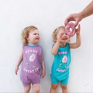 Rags to Raches Donut Romper - Purple 2T